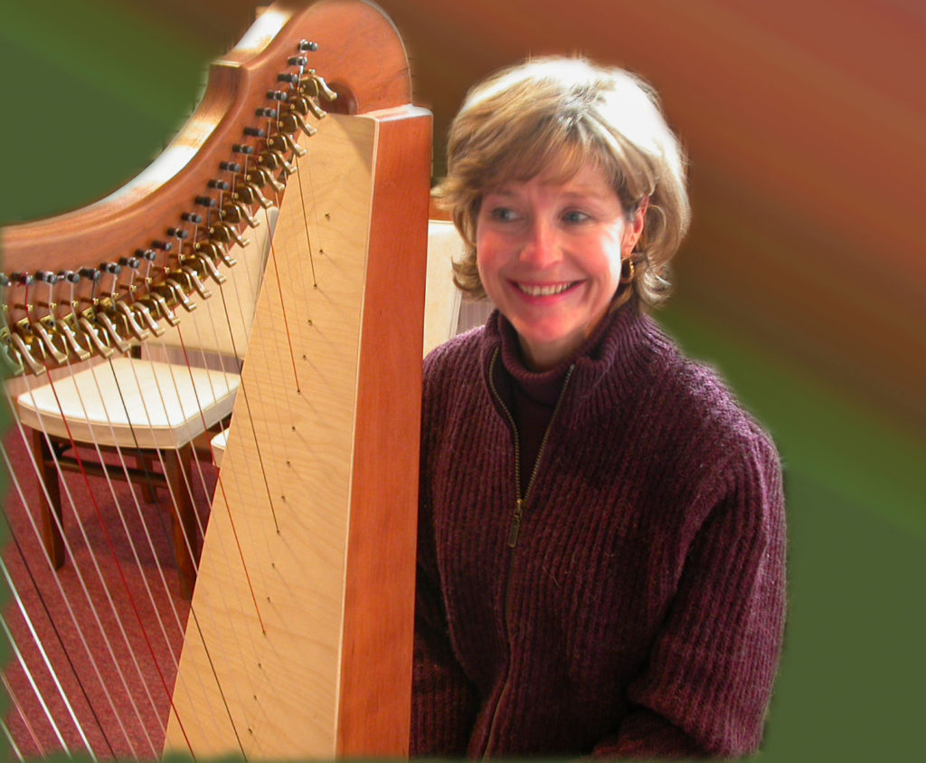 Kathie, an original member of the Lyrae Angelicae Harp Ensemble